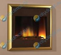 Электрокамин Flamerite Landscape brass