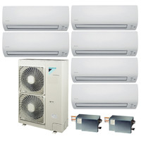 Мульти сплит система Daikin FTXS20Kx3+FTXS35Kx2+FTXS42K/BP3x2/RXYSQ5T8V (комплект)