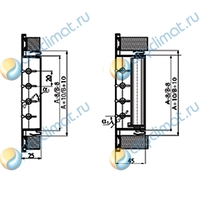 Вентиляционная решетка AluGrills RAG 100x250