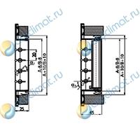 Вентиляционная решетка AluGrills RAG 100x350