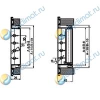 Вентиляционная решетка AluGrills RAG 800x100